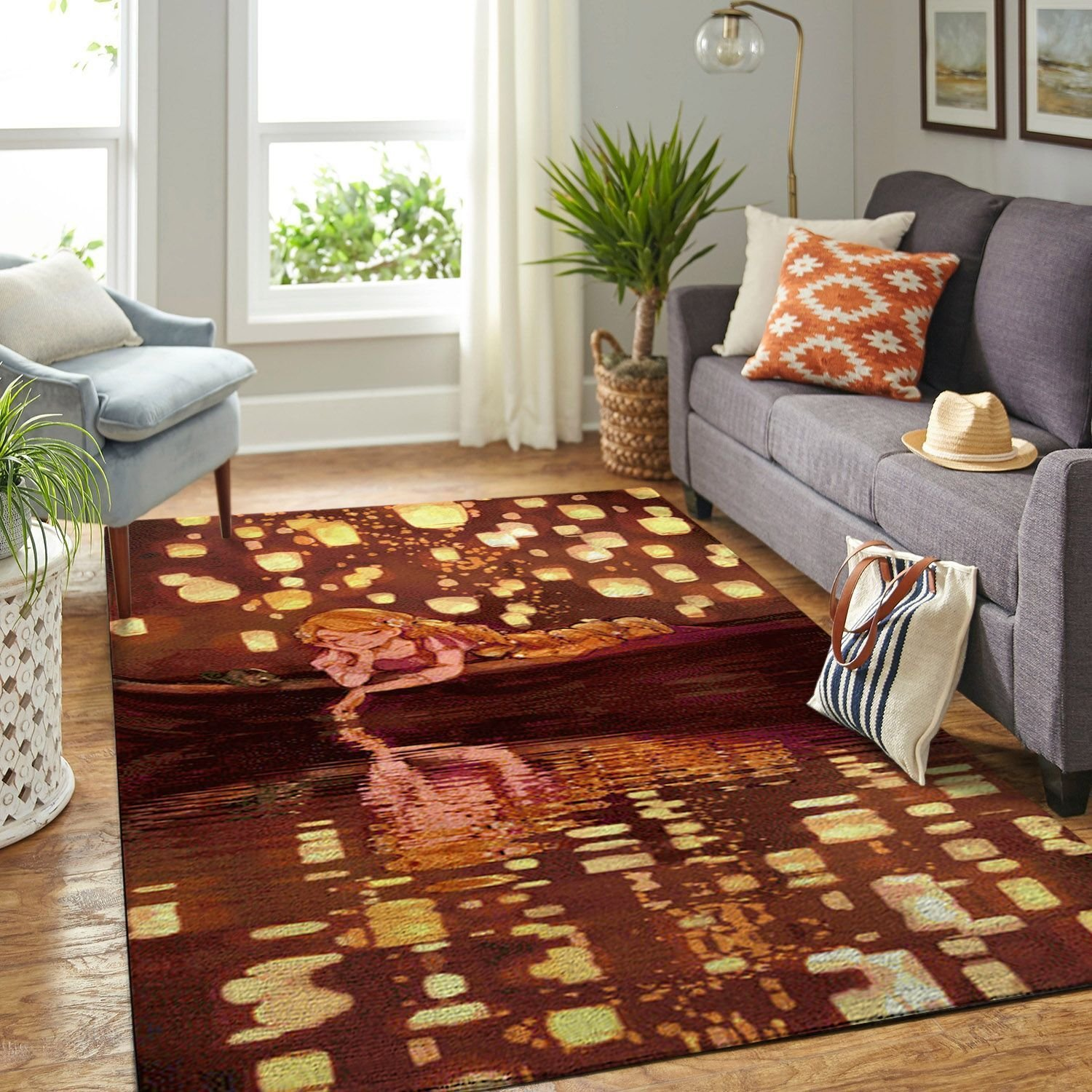 Amazon Tangled Disney Movie Living Room Area No6677 Rug
