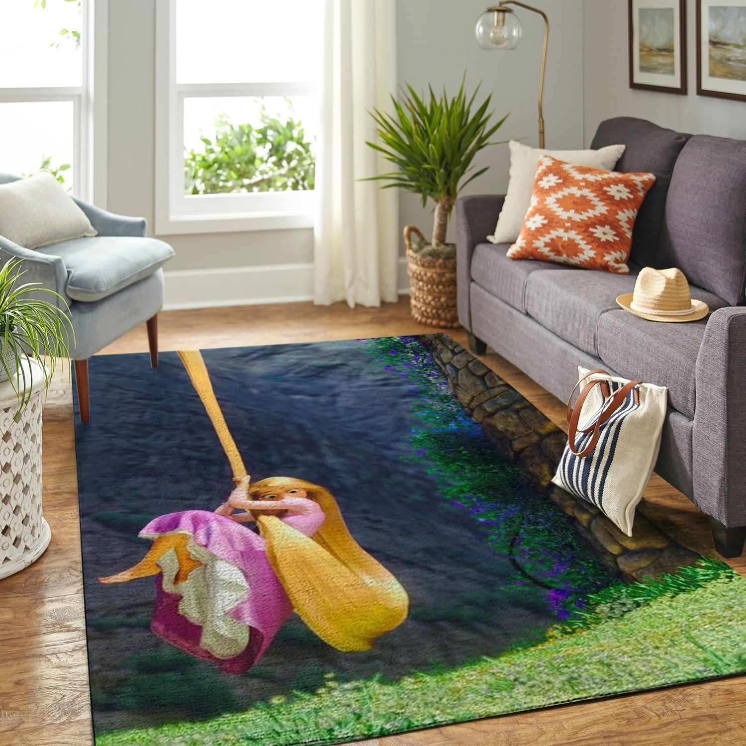 Amazon Tangled Disney Movie Living Room Area No6682 Rug