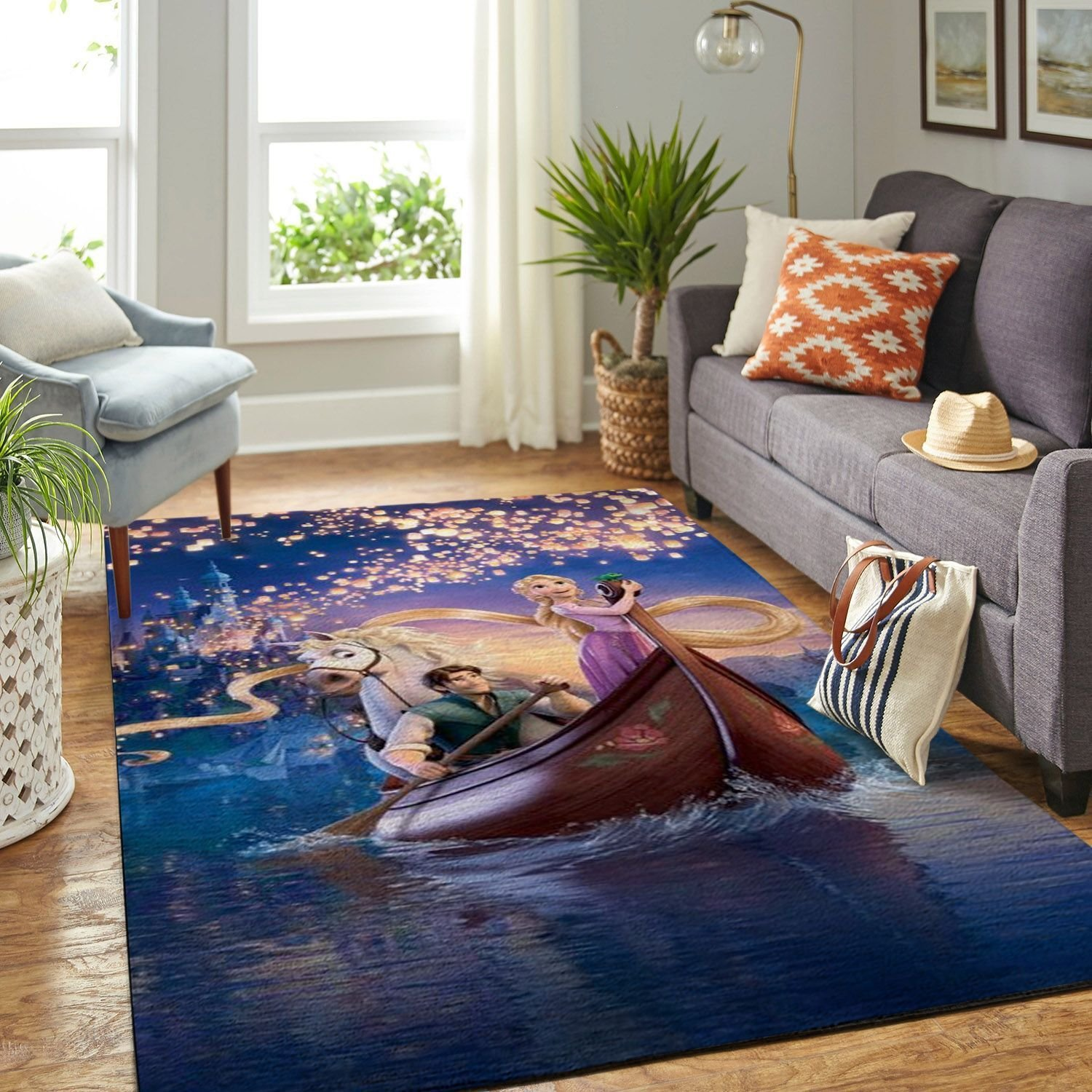 Amazon Tangled Disney Movie Living Room Area No6683 Rug