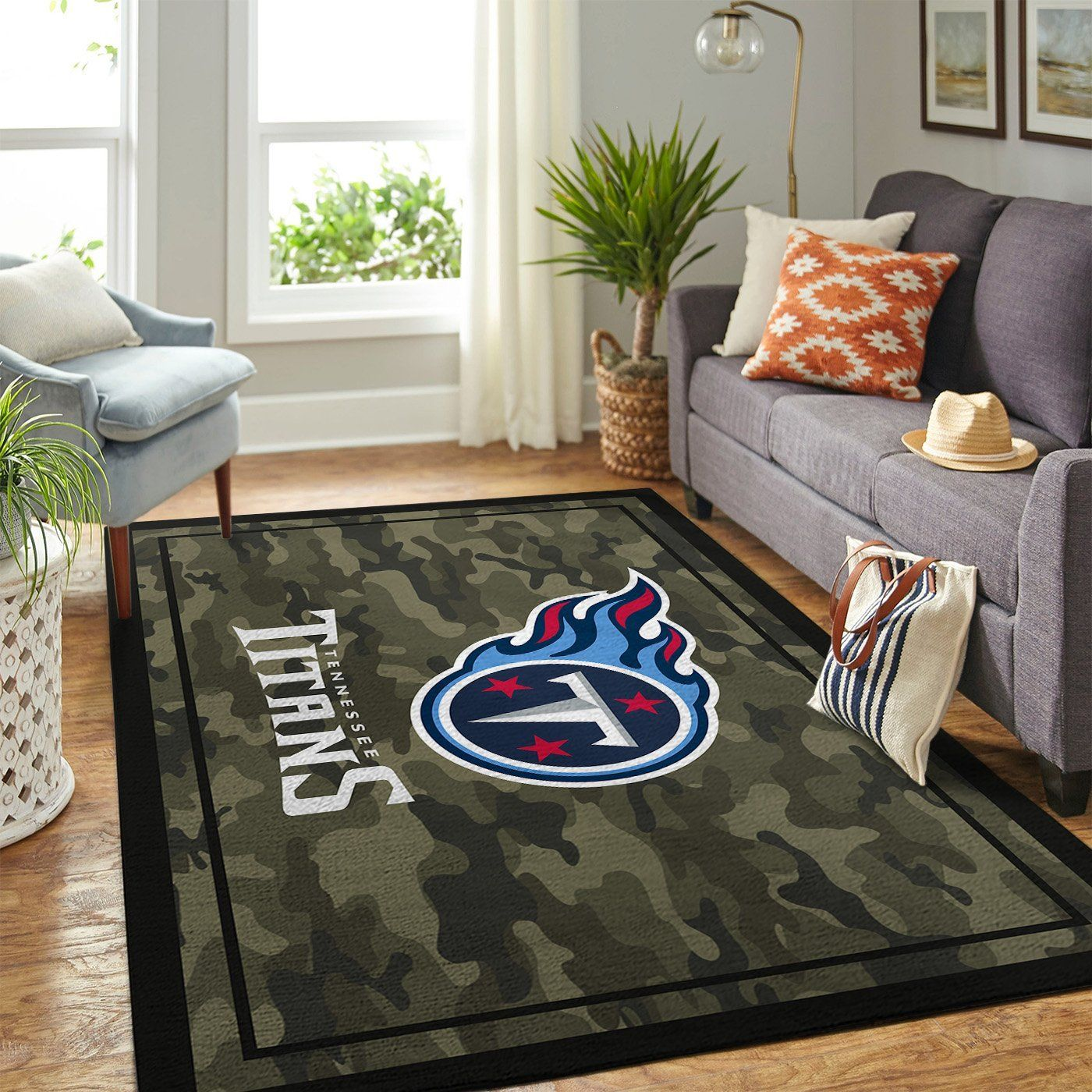 Amazon Tennessee Titans Living Room Area No5122 Rug
