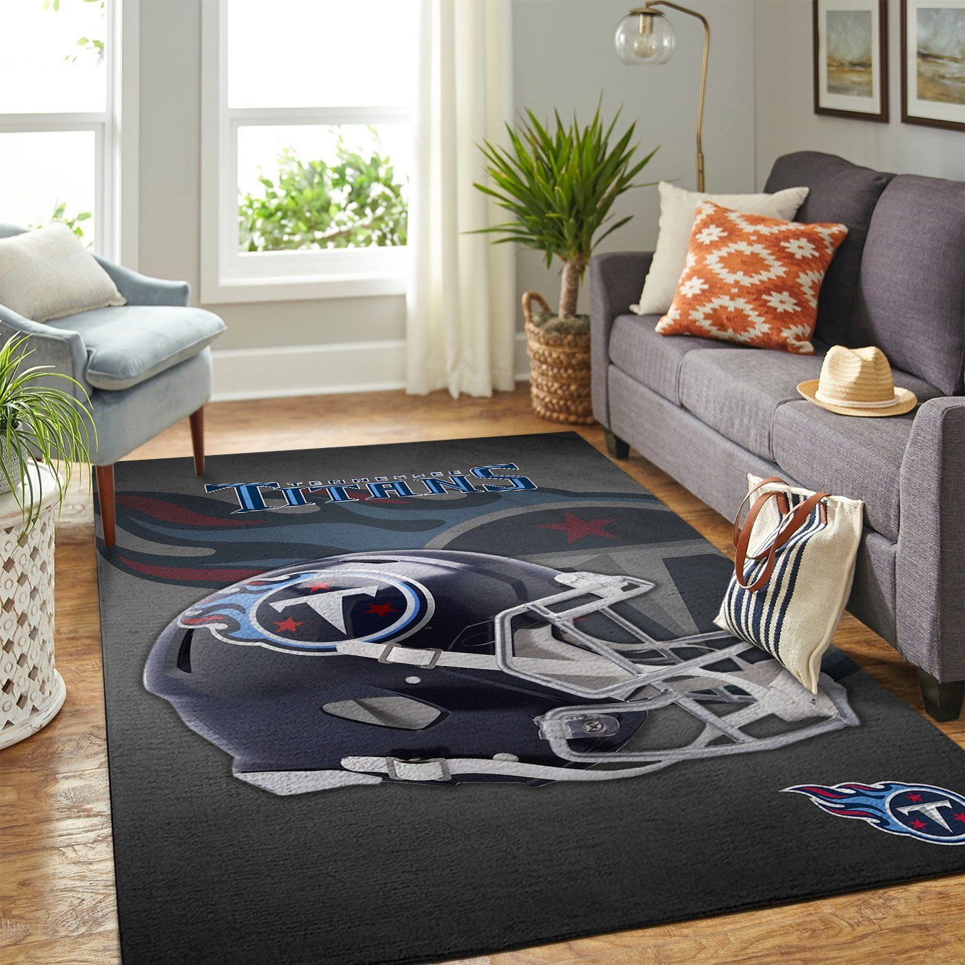 Amazon Tennessee Titans Living Room Area No5125 Rug
