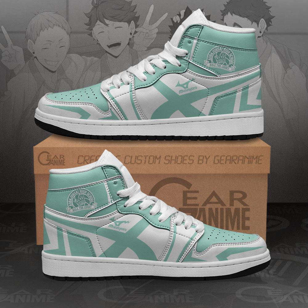 Aoba Johsai High Sneakers Haikyuu Anime Air Jordan Shoes
