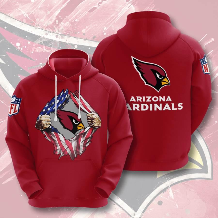 Arizona Cardinals No47 Custom Hoodie 3D