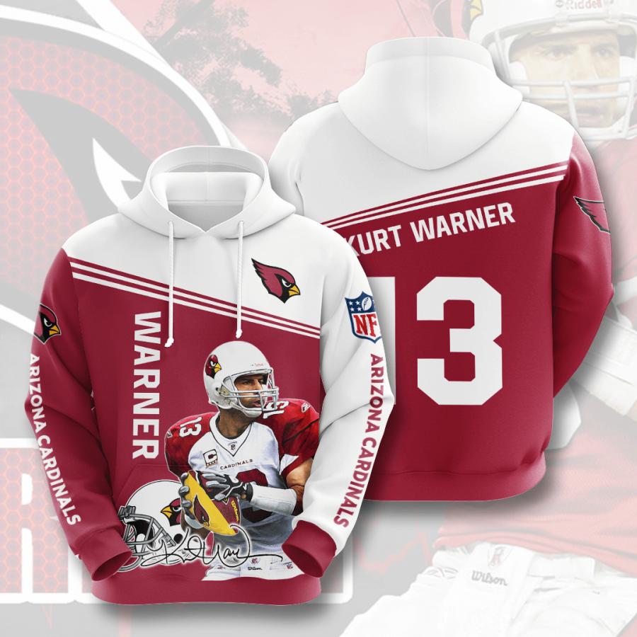 Arizona Cardinals No49 Custom Hoodie 3D