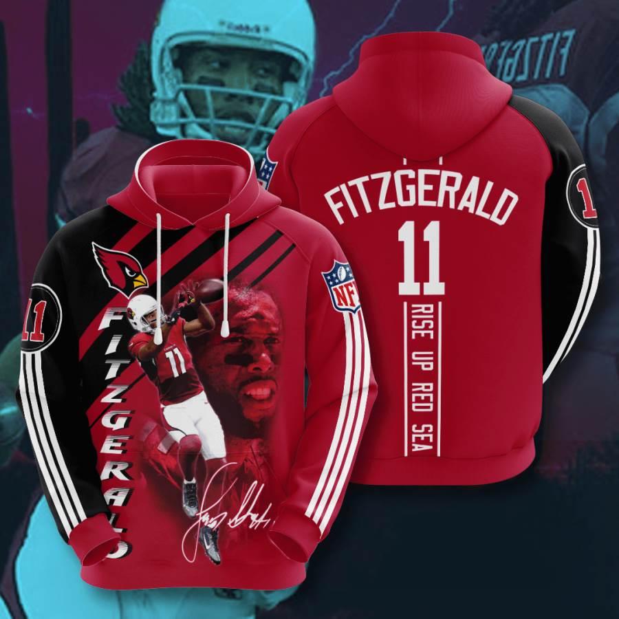 Arizona Cardinals No51 Custom Hoodie 3D