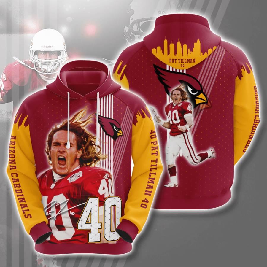 Arizona Cardinals No57 Custom Hoodie 3D