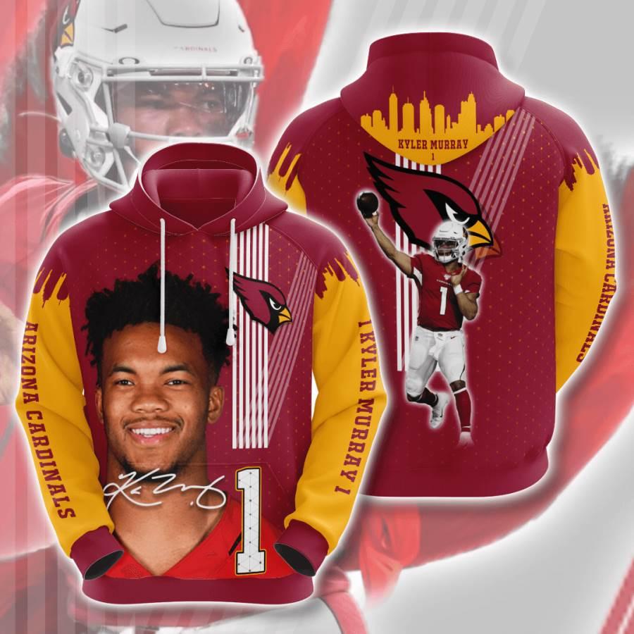 Arizona Cardinals No60 Custom Hoodie 3D
