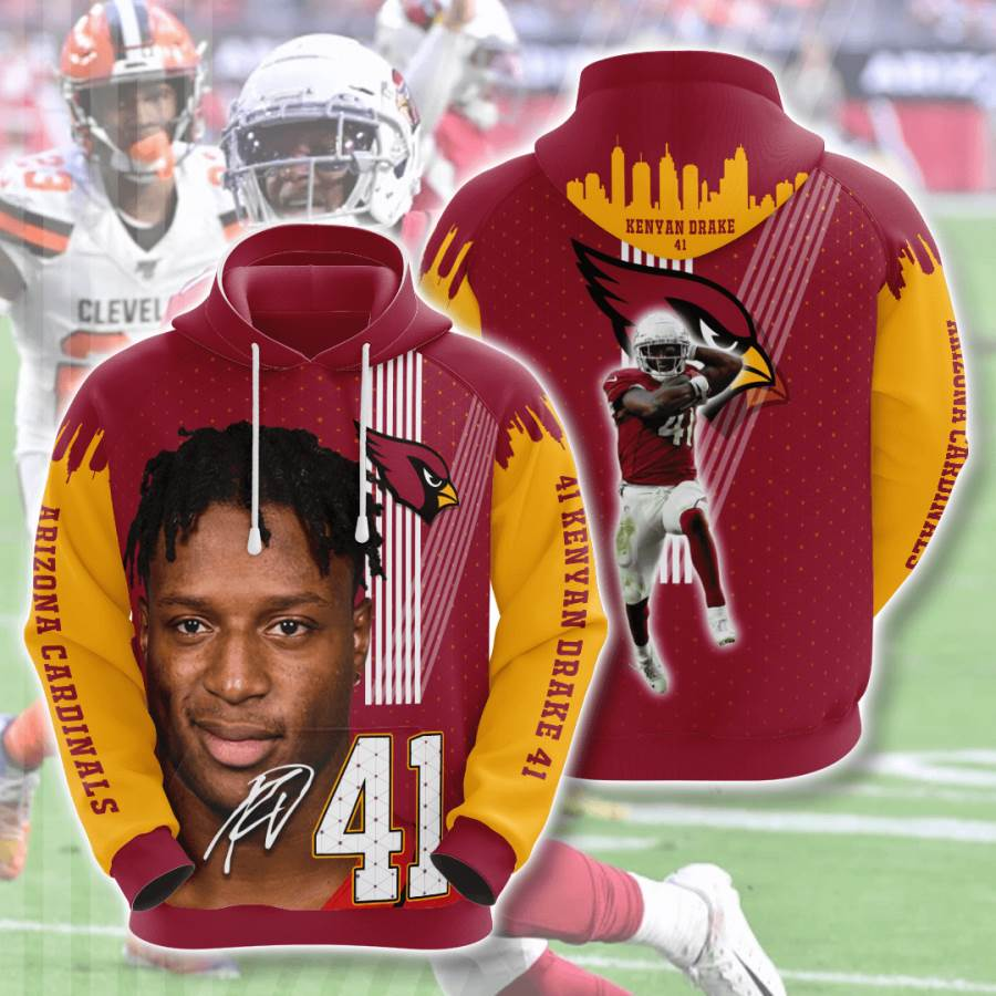 Arizona Cardinals No62 Custom Hoodie 3D
