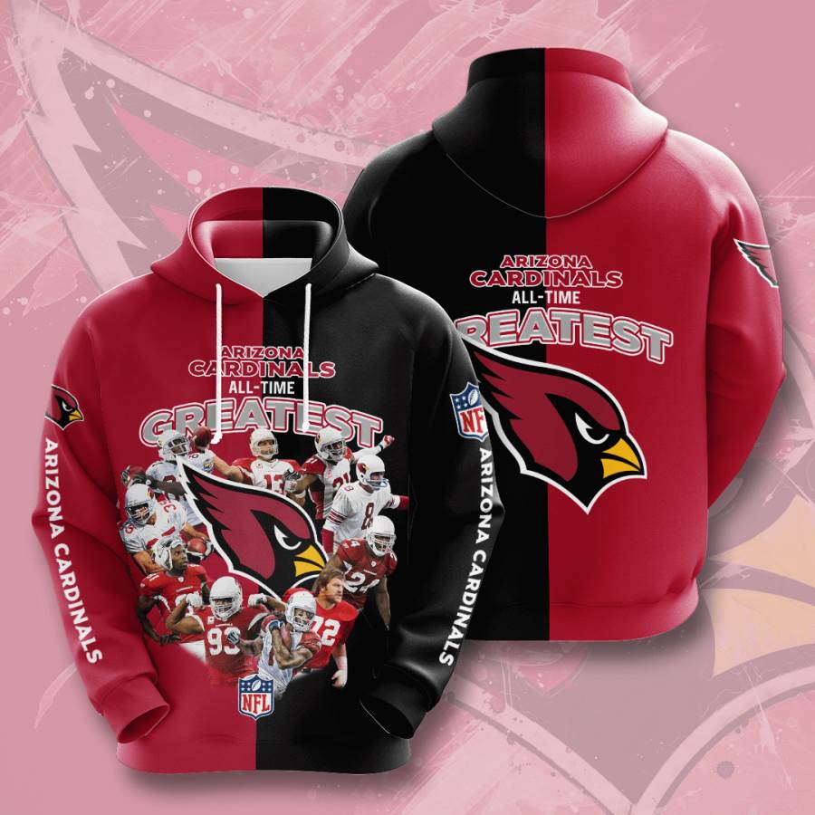 Arizona Cardinals No64 Custom Hoodie 3D