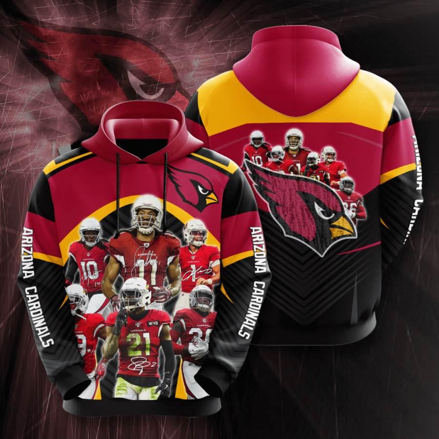 Arizona Cardinals No66 Custom Hoodie 3D