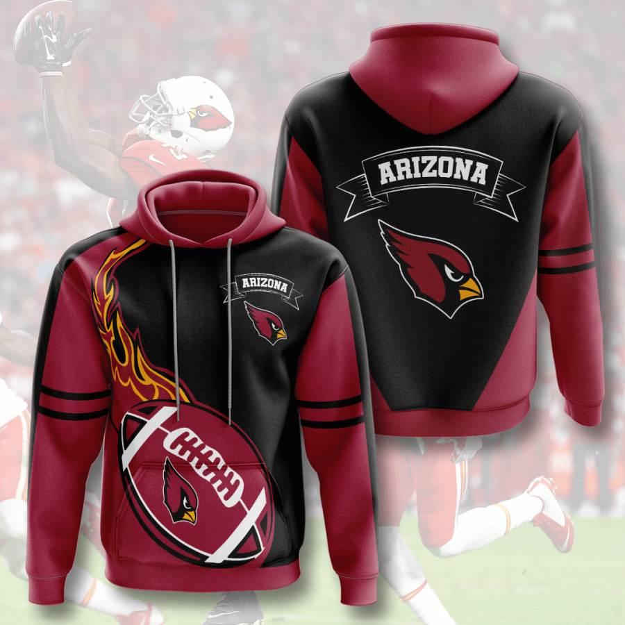 Arizona Cardinals No70 Custom Hoodie 3D