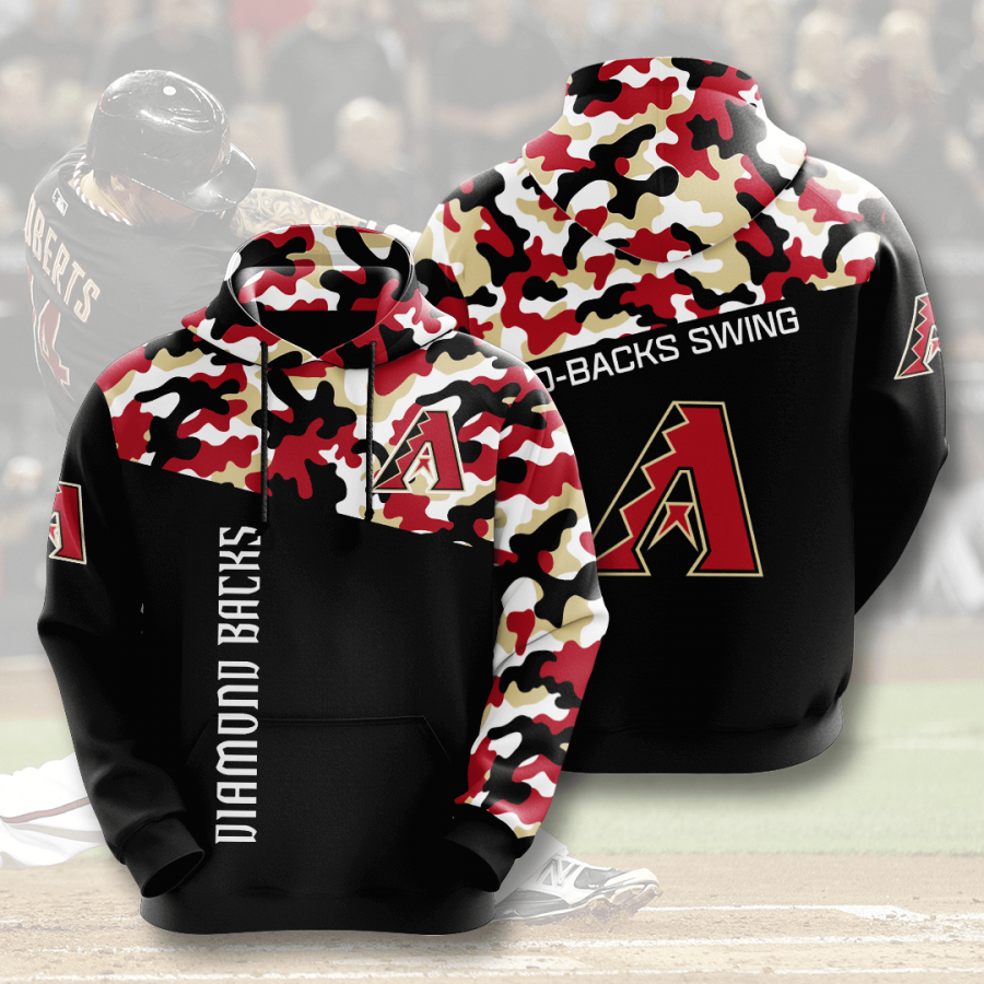 Arizona Diamondbacks No84 Custom Hoodie 3D