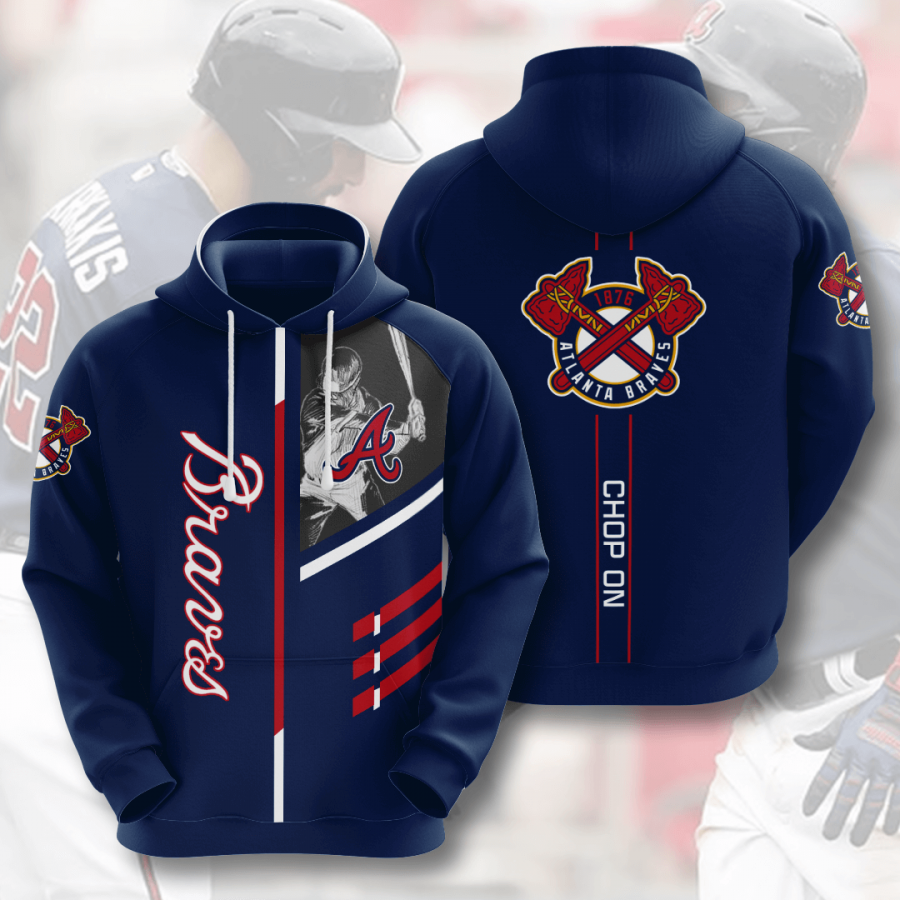 Atlanta Braves No100 Custom Hoodie 3D