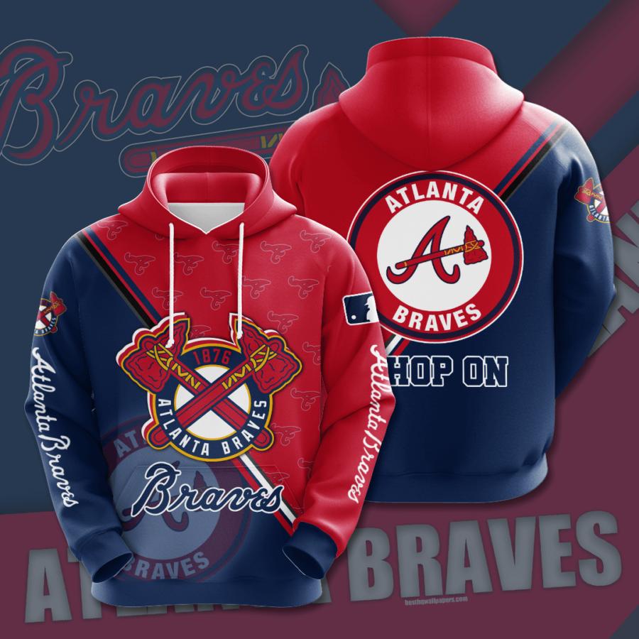 Atlanta Braves No101 Custom Hoodie 3D