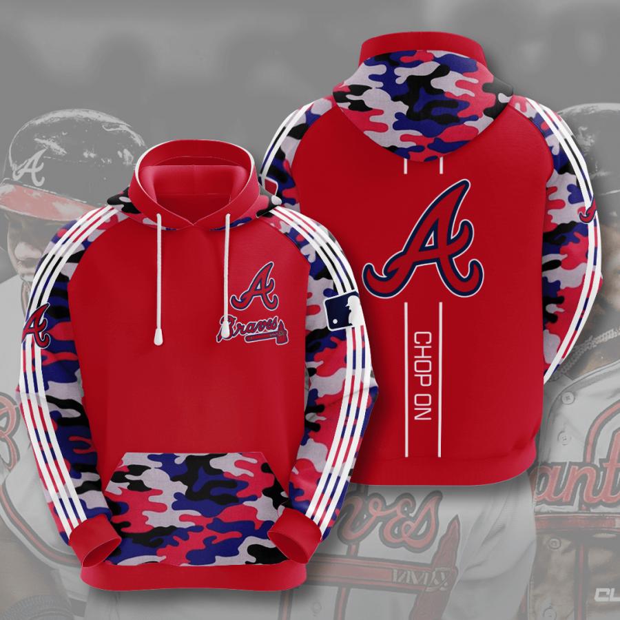 Atlanta Braves No107 Custom Hoodie 3D