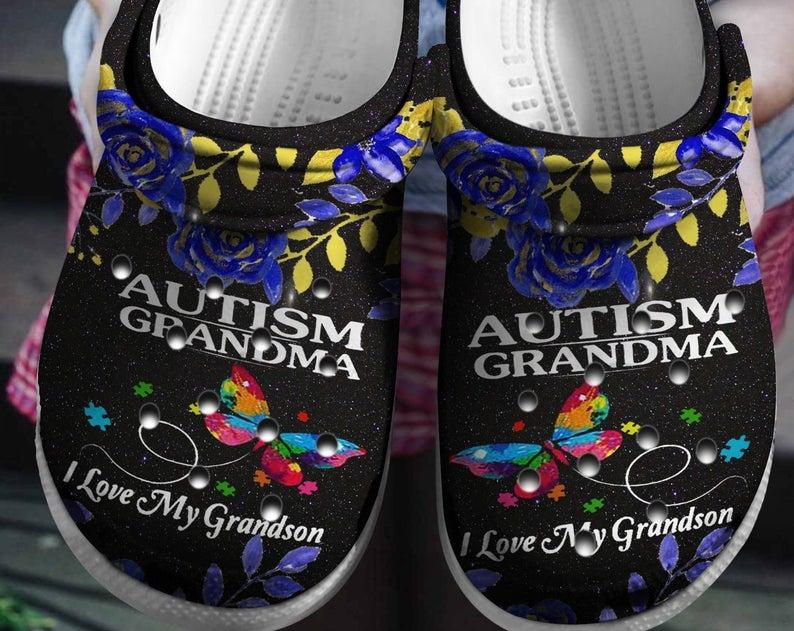 Autism Grandma Crocs Clog Shoes