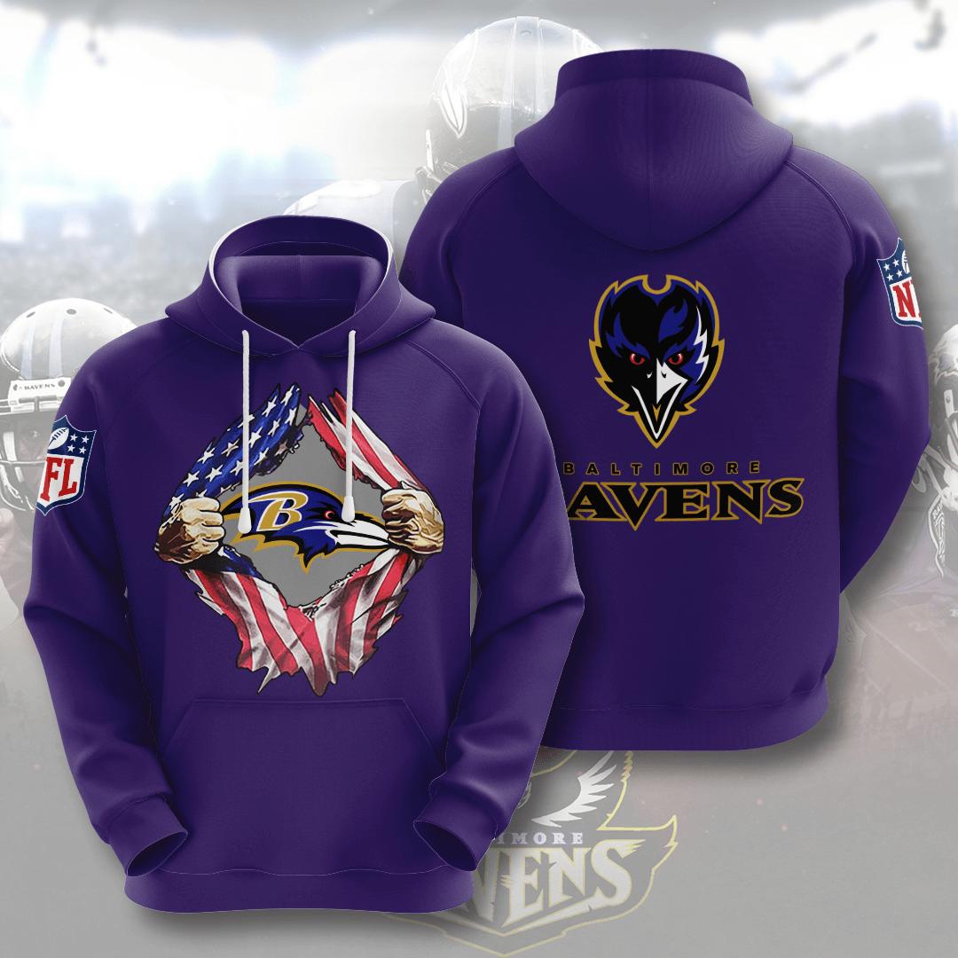 Baltimore Ravens No152 Custom Hoodie 3D
