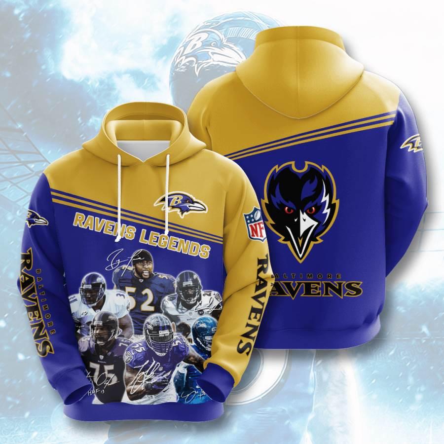 Baltimore Ravens No153 Custom Hoodie 3D