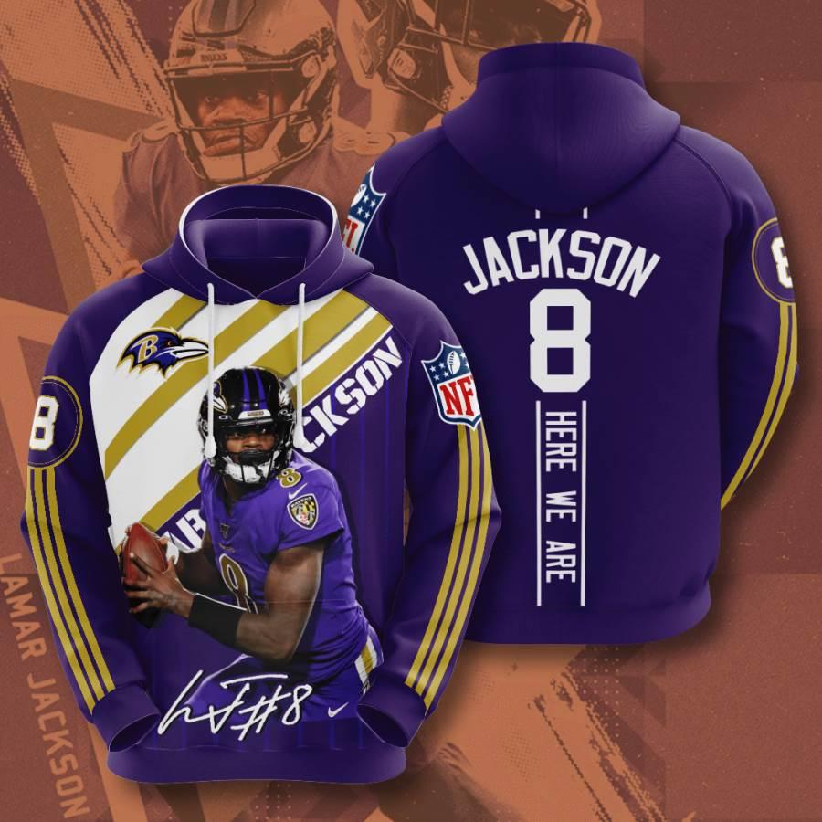 Baltimore Ravens No156 Custom Hoodie 3D