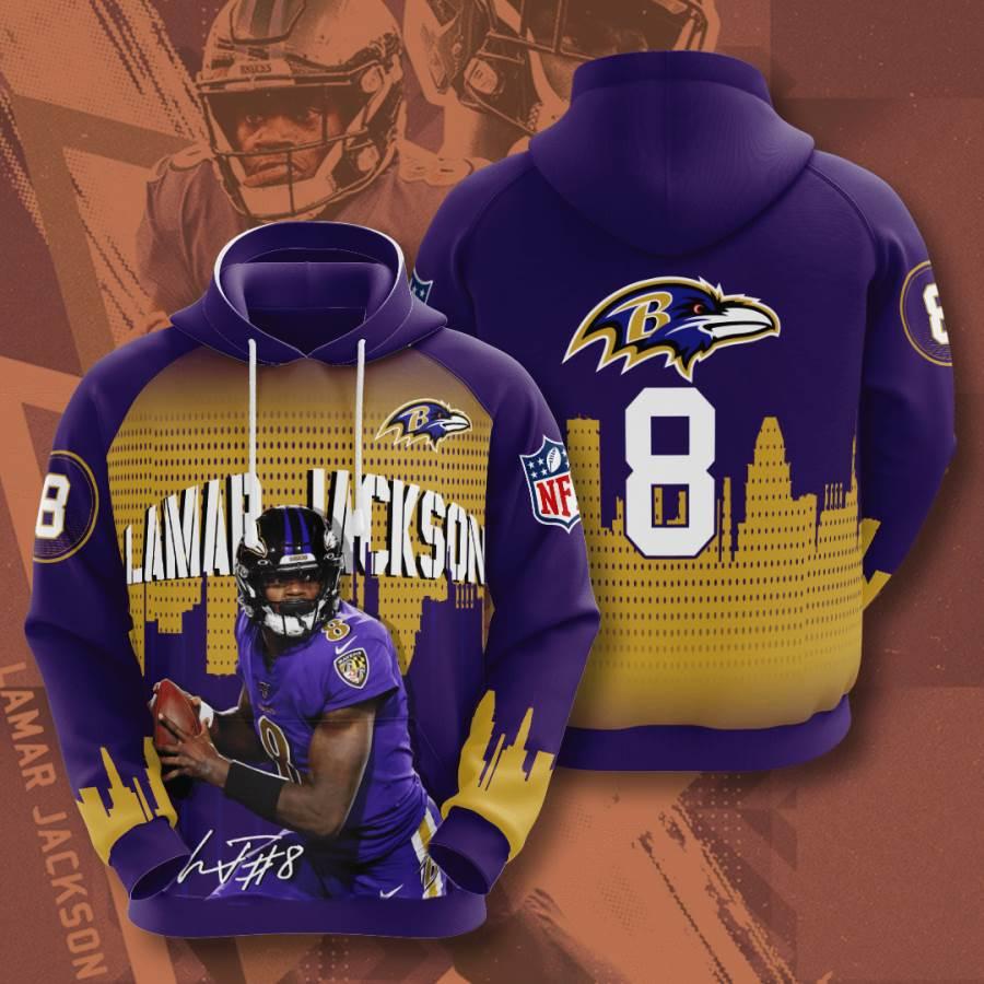 Baltimore Ravens No157 Custom Hoodie 3D