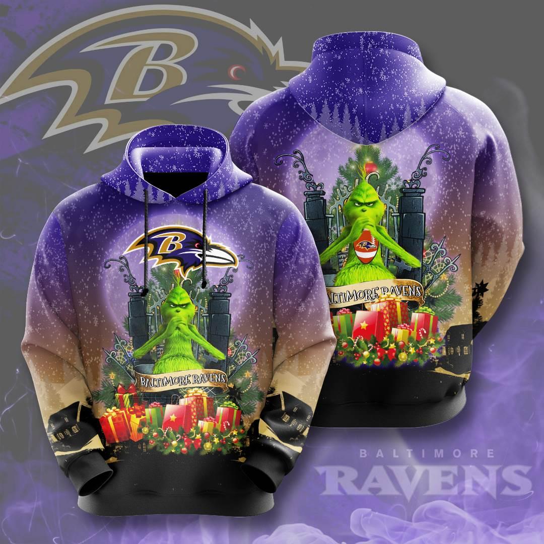 Baltimore Ravens No167 Custom Hoodie 3D