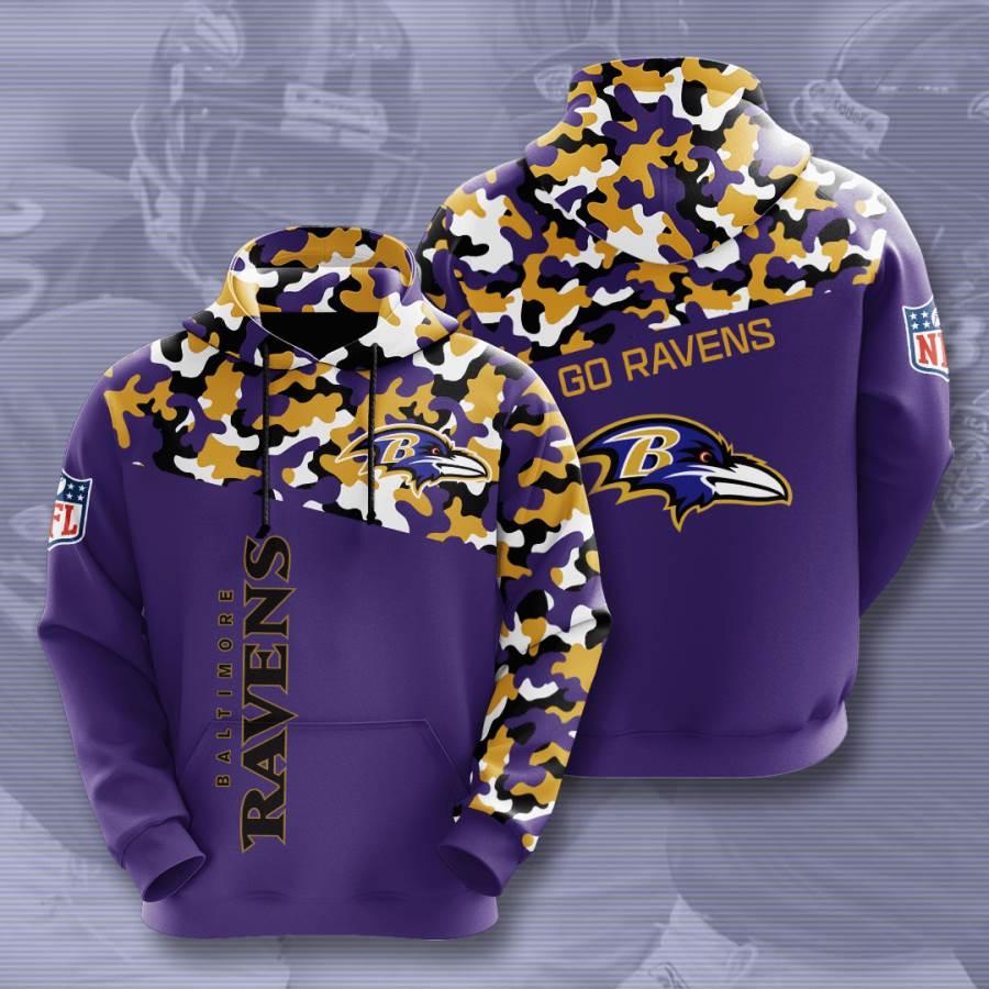 Baltimore Ravens No168 Custom Hoodie 3D