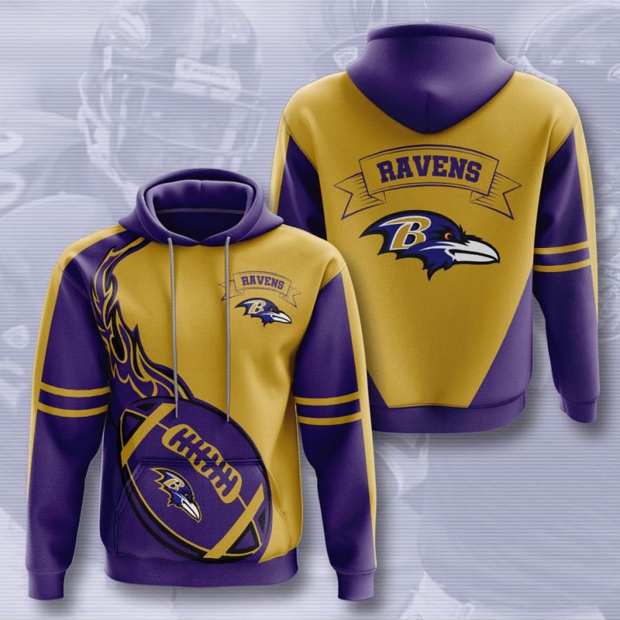 Baltimore Ravens No169 Custom Hoodie 3D