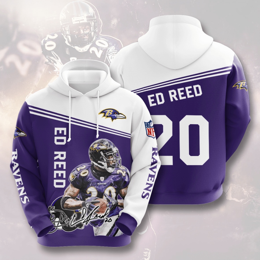 Baltimore Ravens No171 Custom Hoodie 3D