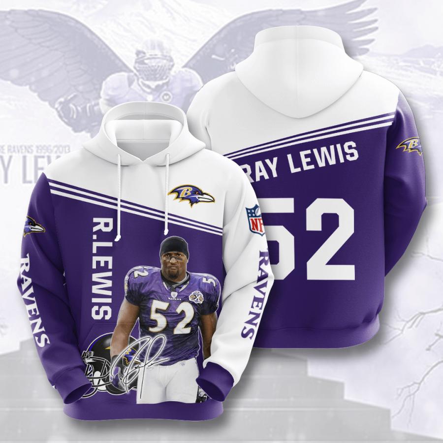 Baltimore Ravens No172 Custom Hoodie 3D