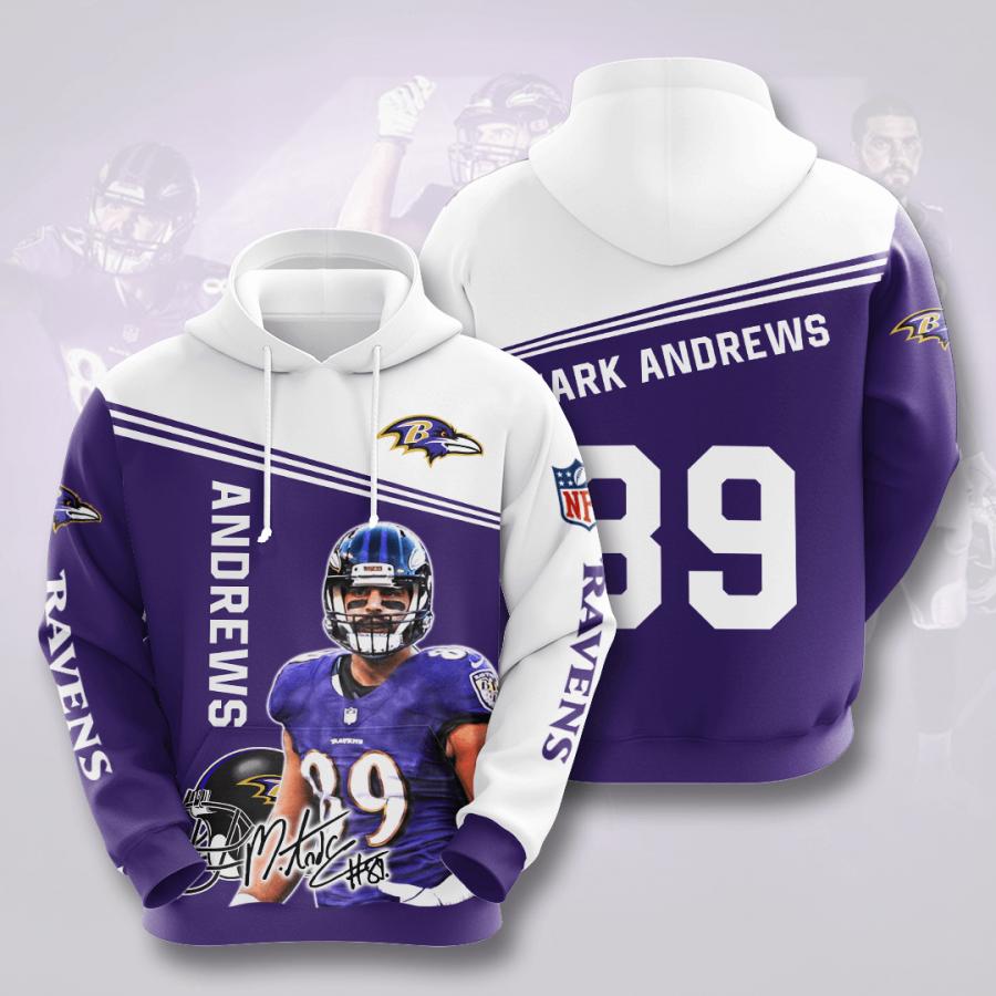 Baltimore Ravens No174 Custom Hoodie 3D