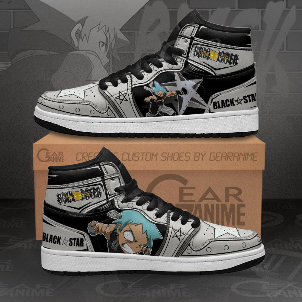 Black Star Sneakers Soul Eater Custom Anime Air Jordan Shoes