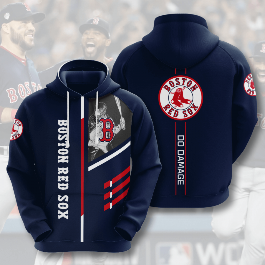 Boston Red Sox No221 Custom Hoodie 3D