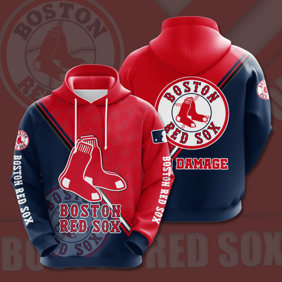 Boston Red Sox No225 Custom Hoodie 3D