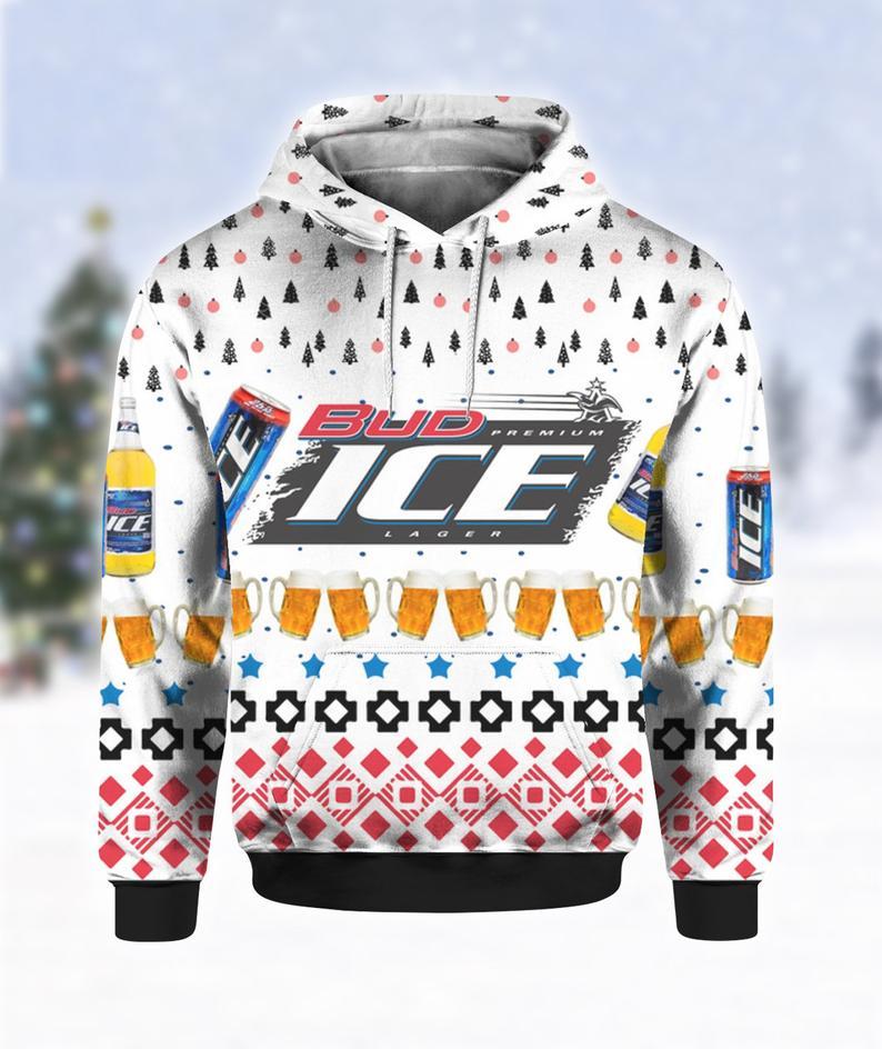 Bud Ice Beer Ugly Sweater