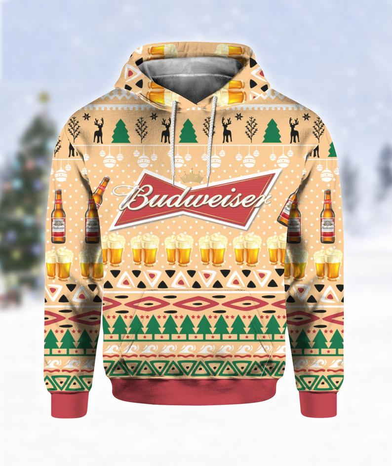 Budweiser Beer Bottle Ugly Sweater