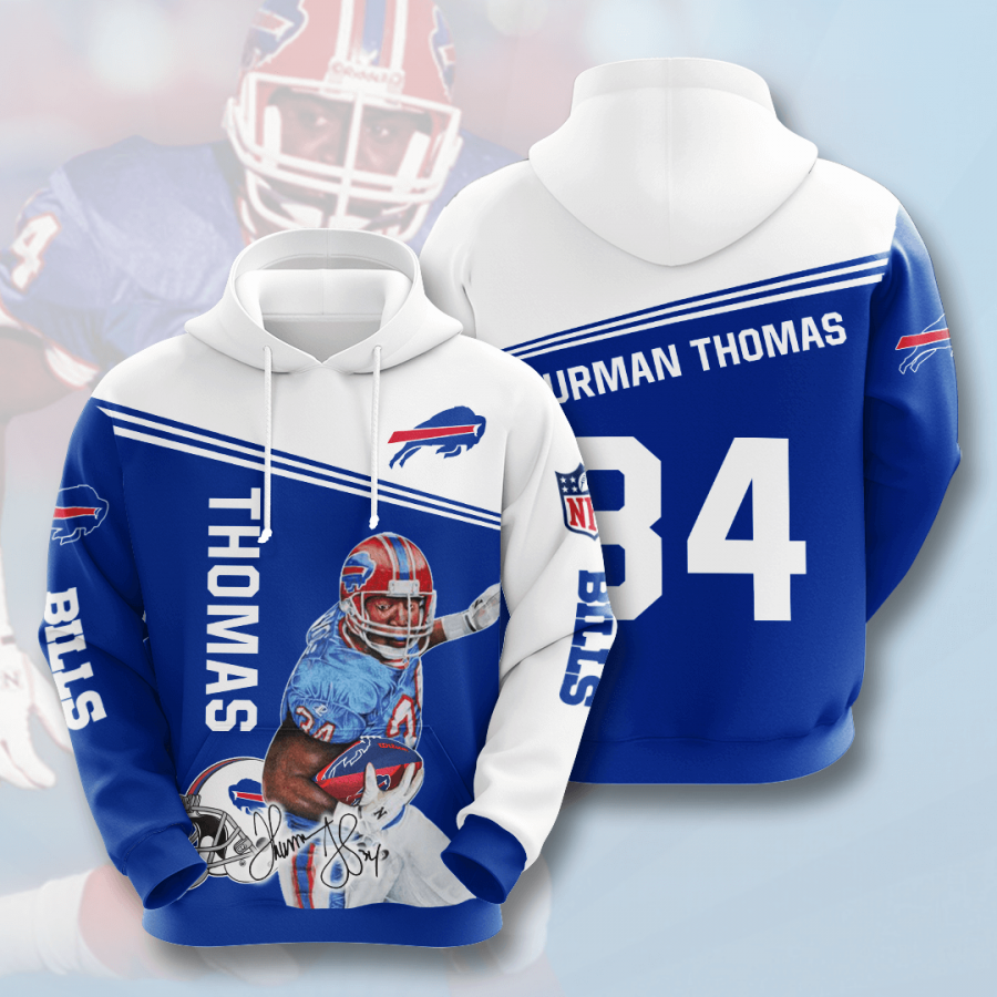 Buffalo Bills No254 Custom Hoodie 3D
