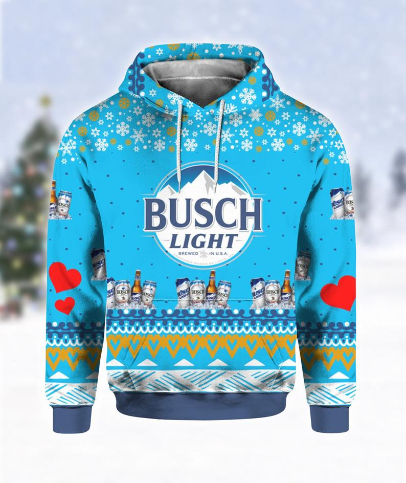Busch Light Beer Christmas Ugly Sweater
