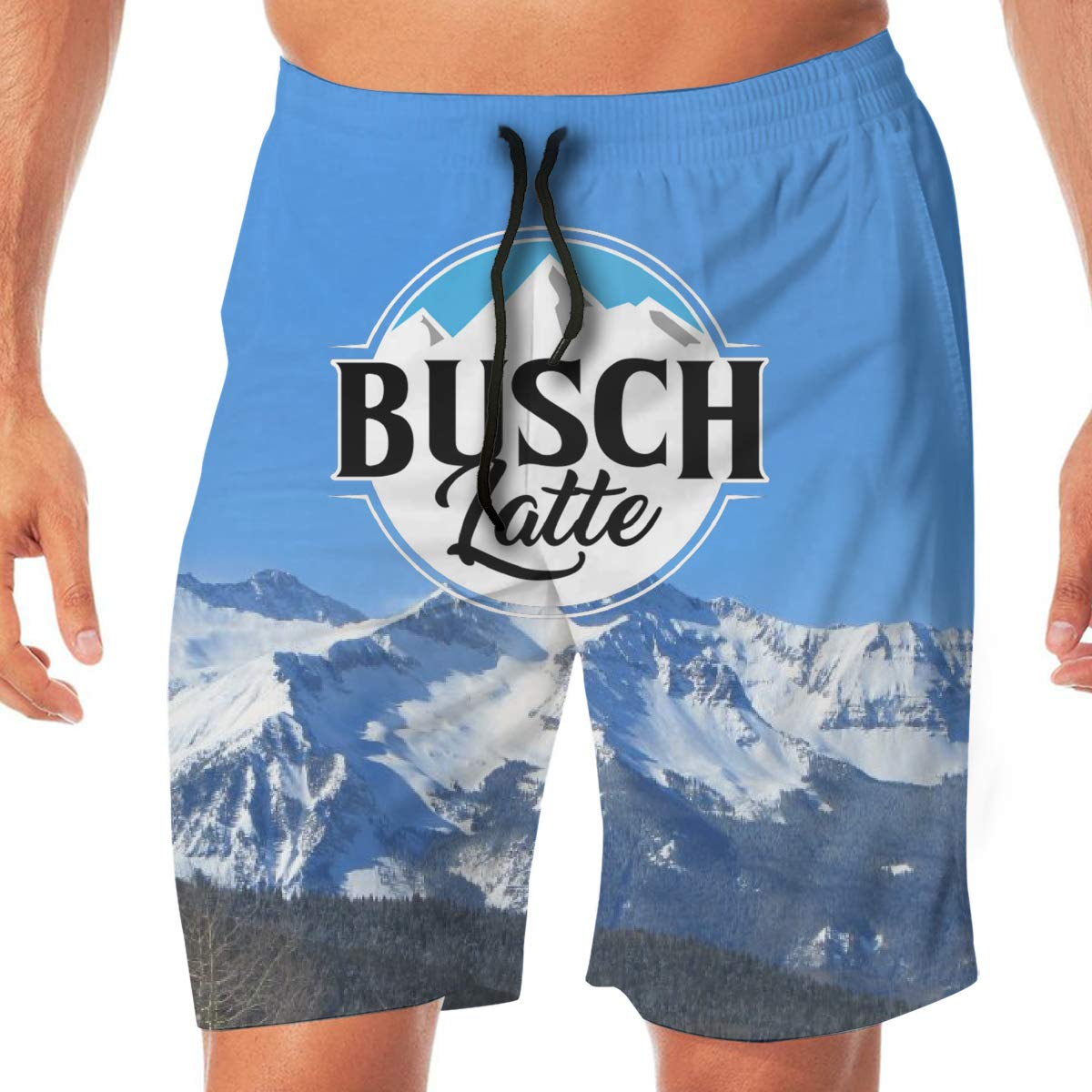 Busch Light Beer Mountain Swim Trunks Shorts