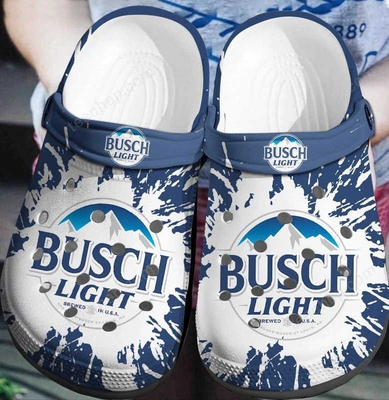 Busch Light Charm Crocs Clog Shoes
