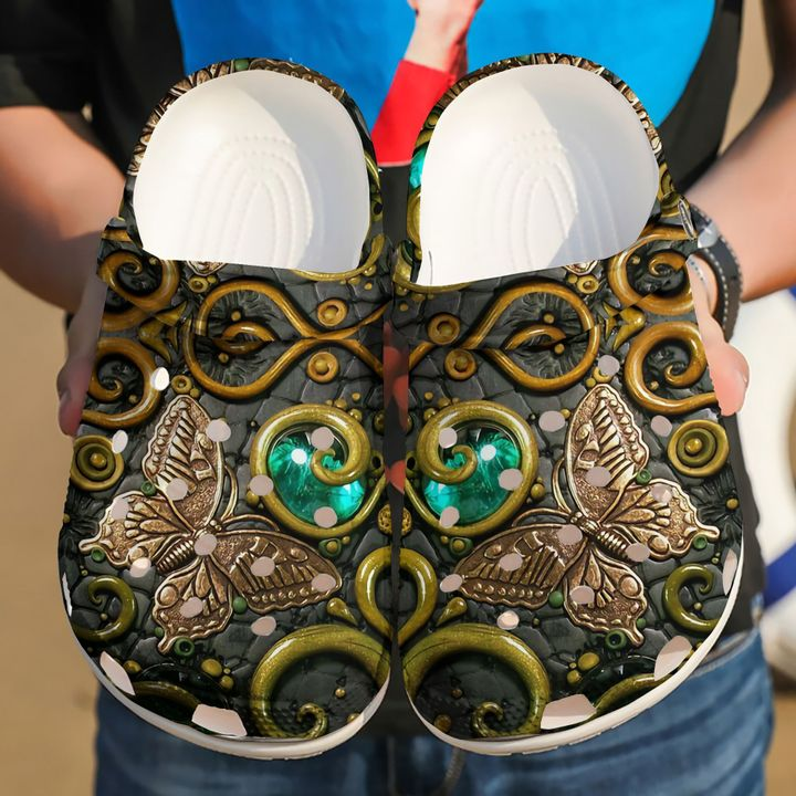 Butterfly Ancient Sku 351 Crocs Clog Shoes