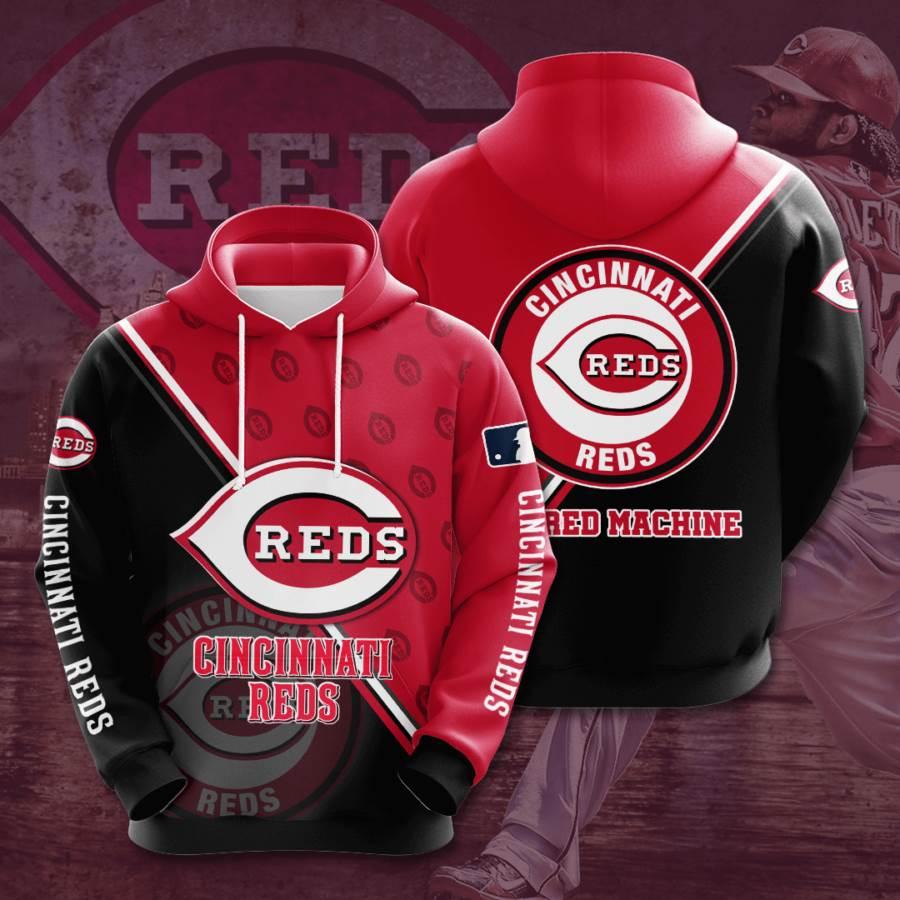 Cincinnati Reds No424 Custom Hoodie 3D