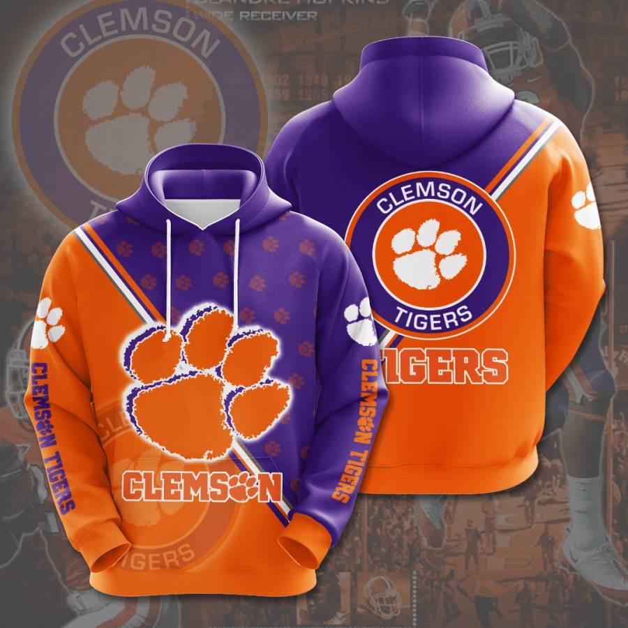 Clemson Tigers No435 Custom Hoodie 3D