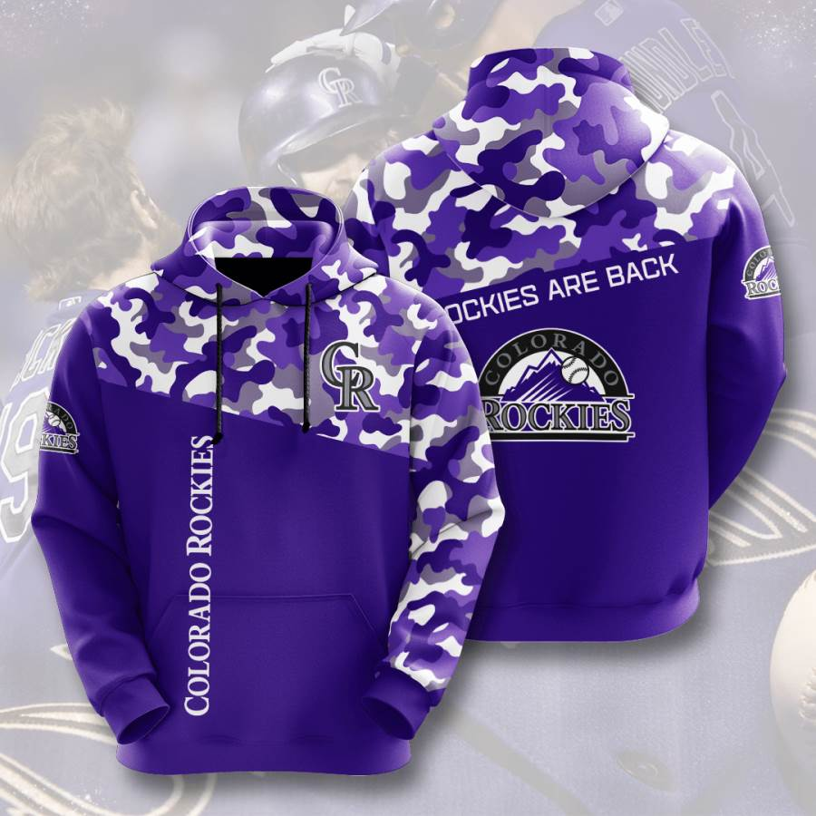 Colorado Rockies No486 Custom Hoodie 3D
