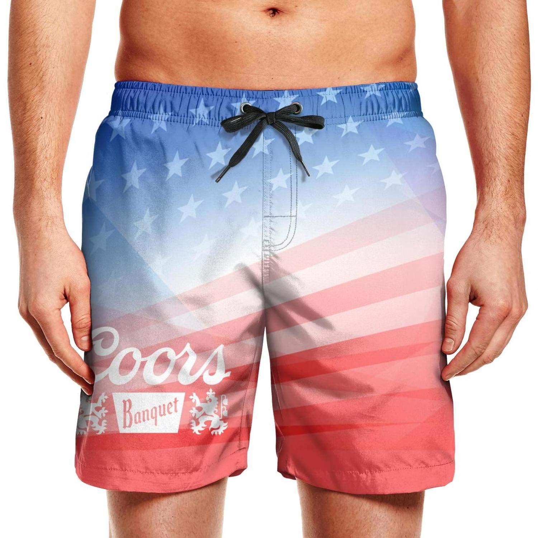 Coors Banquet Patriotic American Usa Flag July 4th Shorts