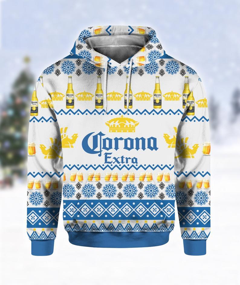 Corona Extra Beer Bottles Ugly Sweater