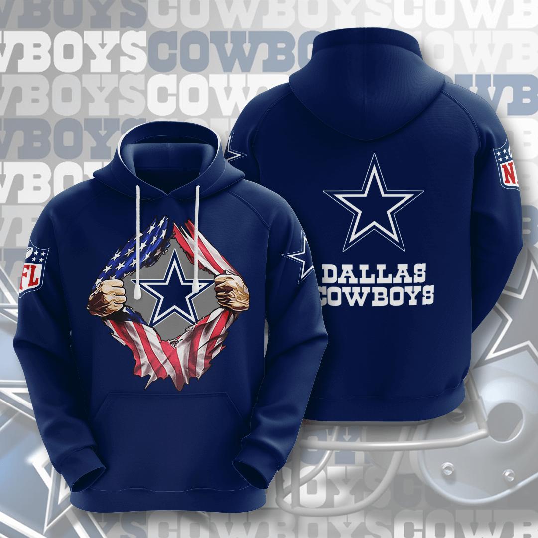 Dallas Cowboys No501 Custom Hoodie 3D