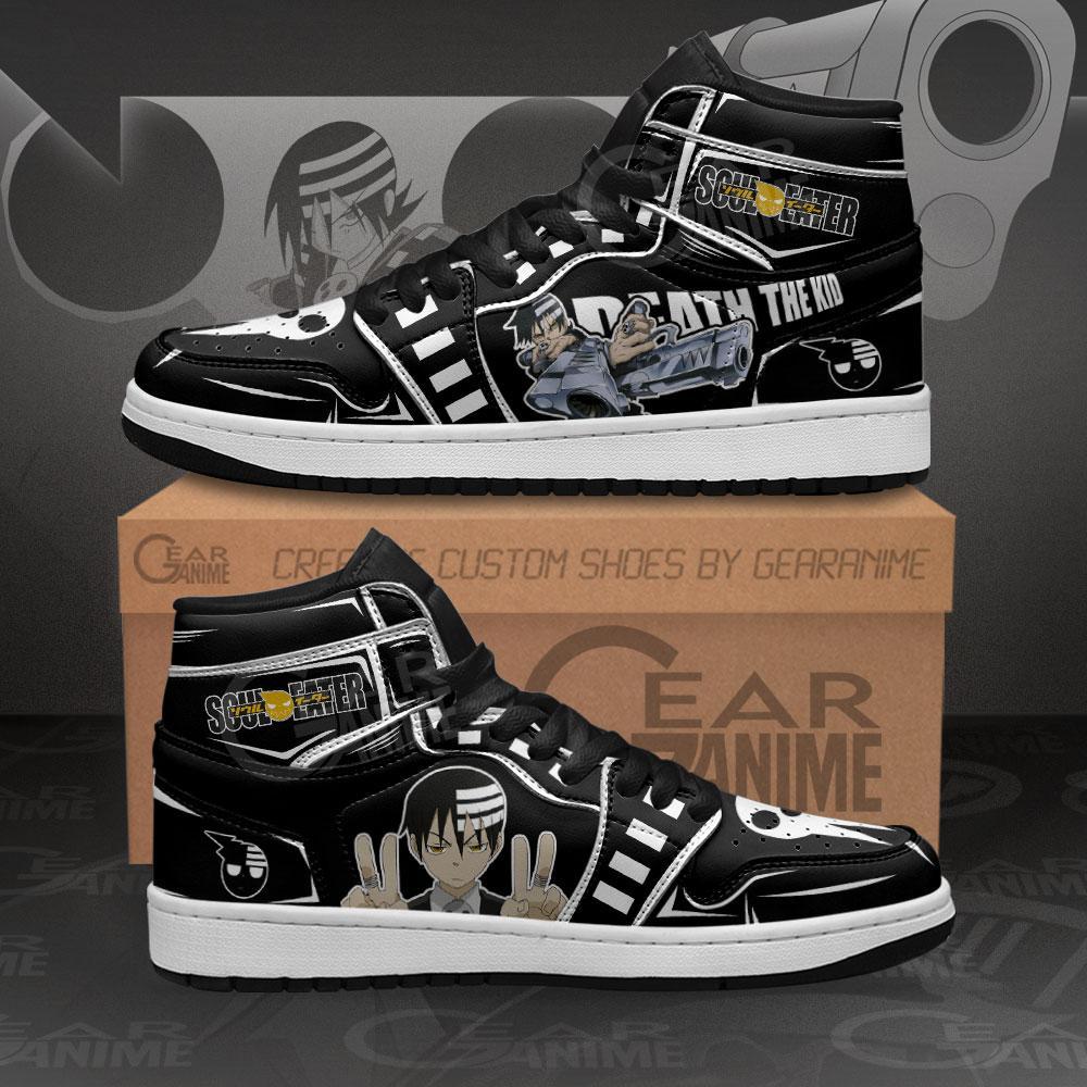 Death The Kid Sneakers Soul Eater Custom Anime Air Jordan Shoes