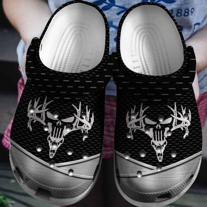 Deer Hunter Skull Crocs Clog Shoes