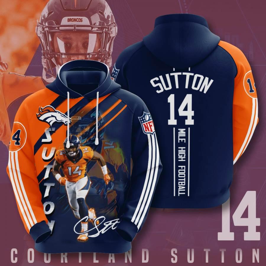 Denver Broncos No555 Custom Hoodie 3D