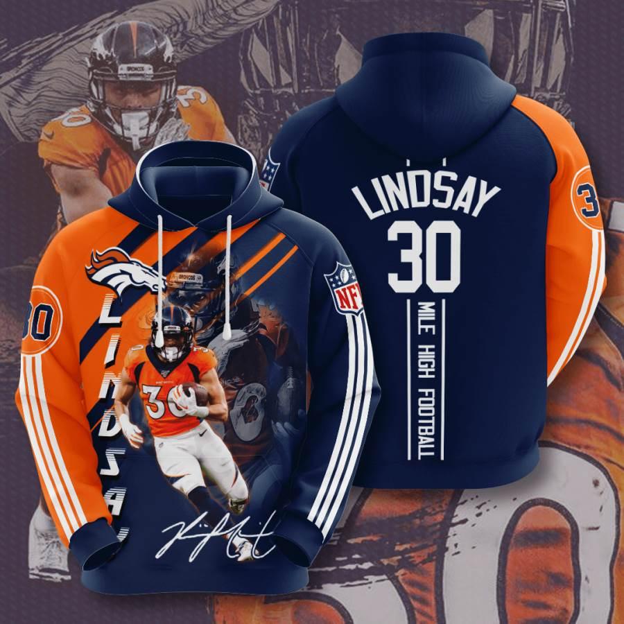 Denver Broncos No558 Custom Hoodie 3D